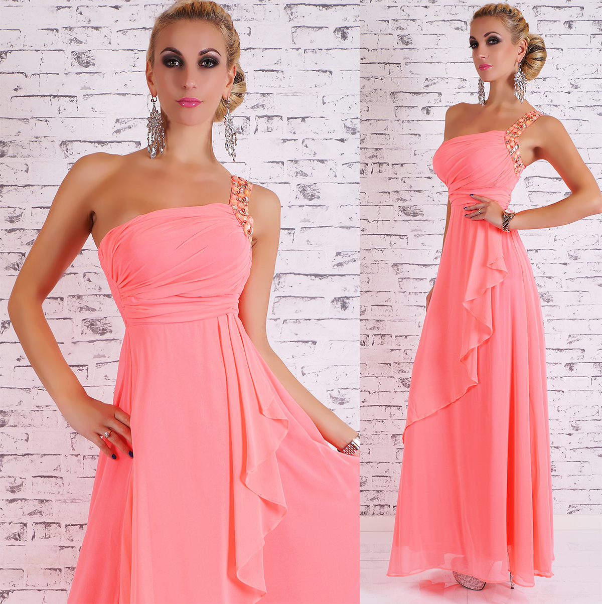 Dlouhé dámské společenské/plesové šaty - ROSA - vel. M/L