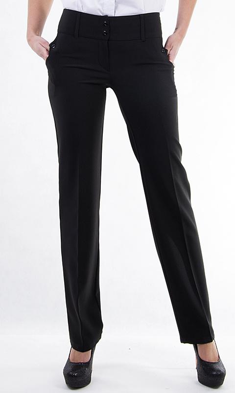 Dámské společenské kalhoty - černé - vel. 46