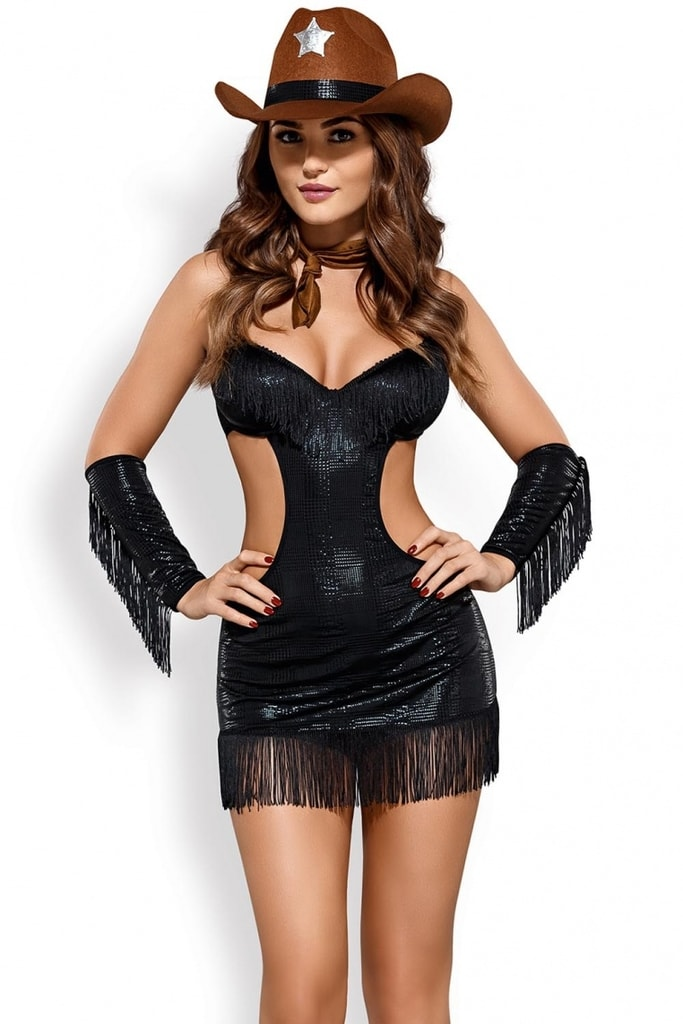 Erotický kostým šerifky - vel. L/XL