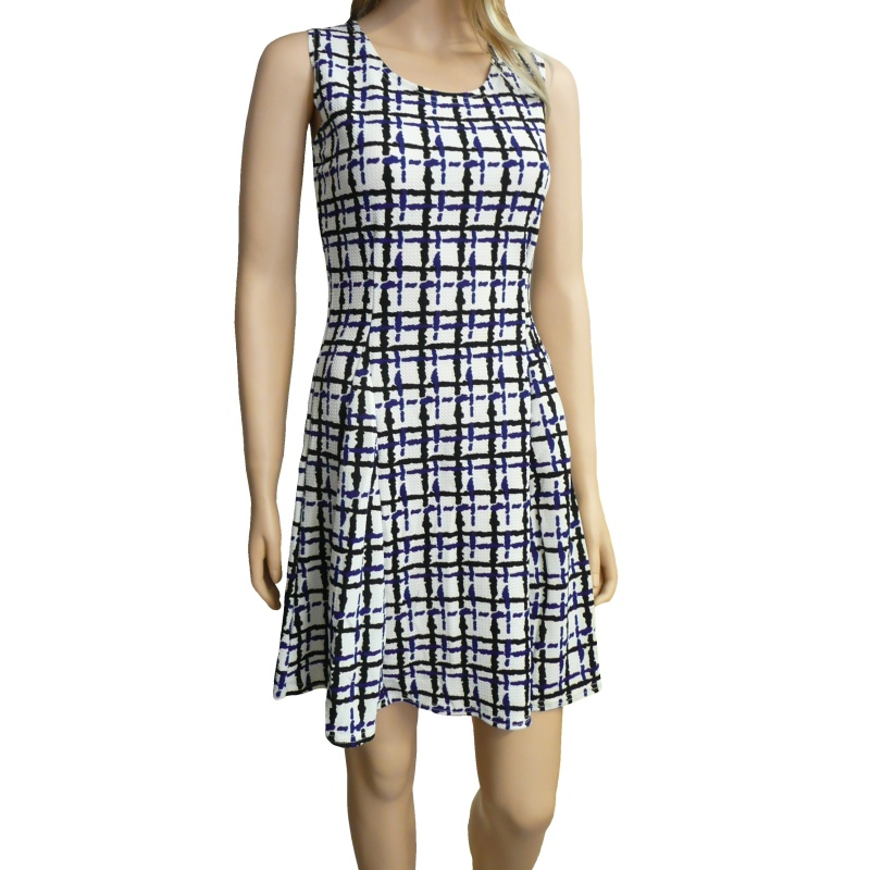 Dámské letní šaty s proužky - bílé - vel. L/XL