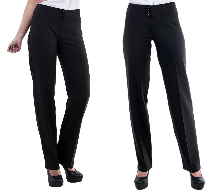 Dámské společenské kalhoty - černé - vel. 42