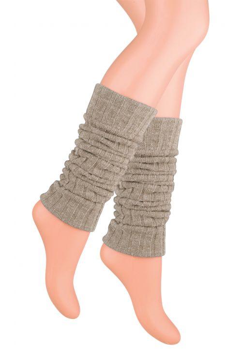 Kotníkové návleky na nohy - světle hnědé - vel. UNI