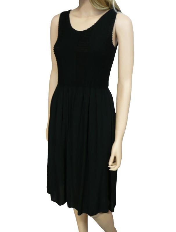 Dámské letní šaty pod kolena - černé - vel. UNI