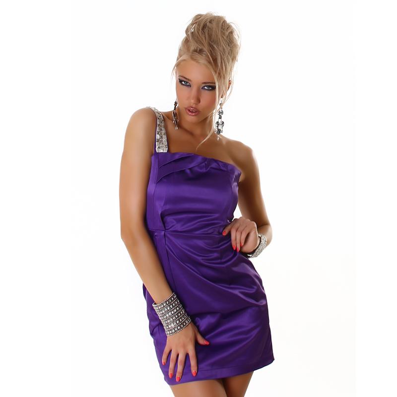 10772daaf71 Dámské společenské plesové sexy šaty - fialové - vel. L