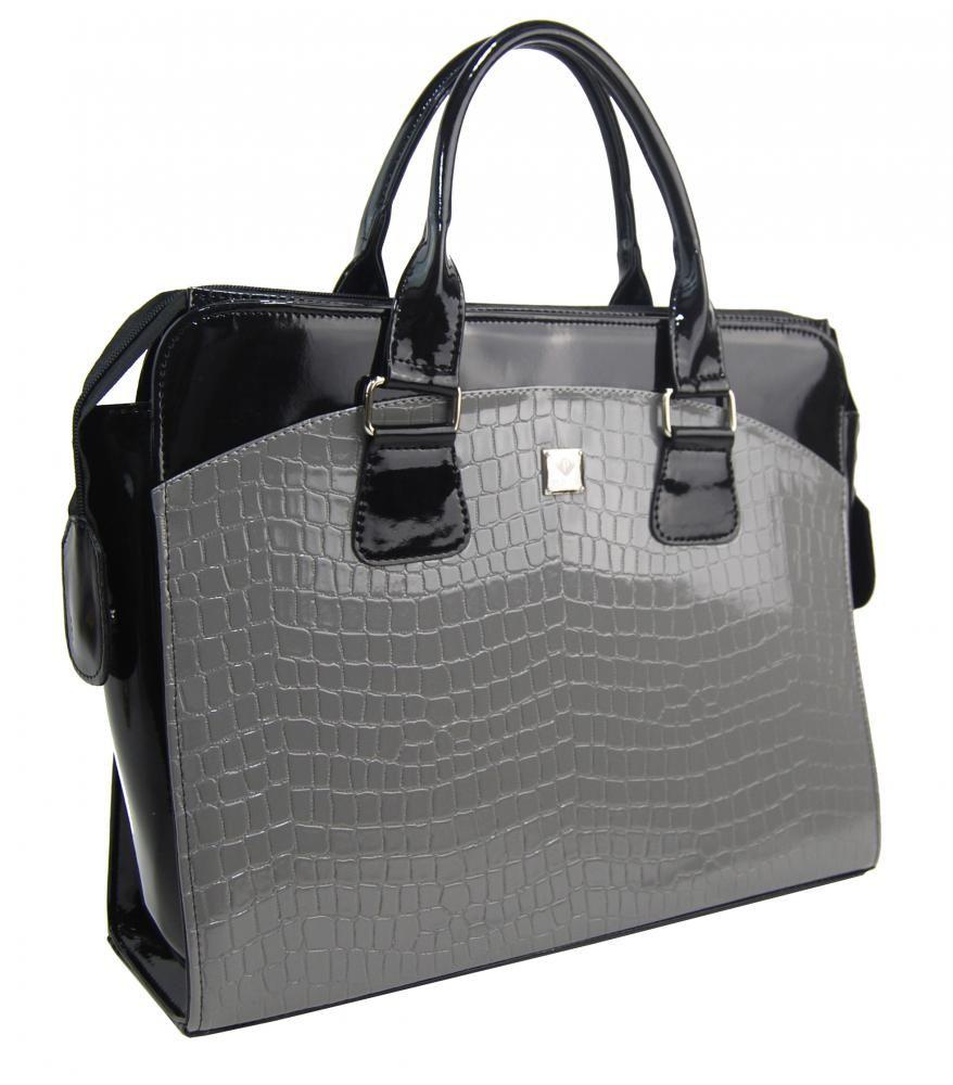 Dámská kabelka/kufřík pro notebook BA3004 - šedá