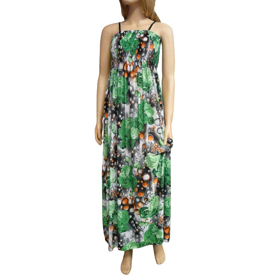 1a211a66d8dc Dámské dlouhé letní šaty k moři - zelené - vel. UNI
