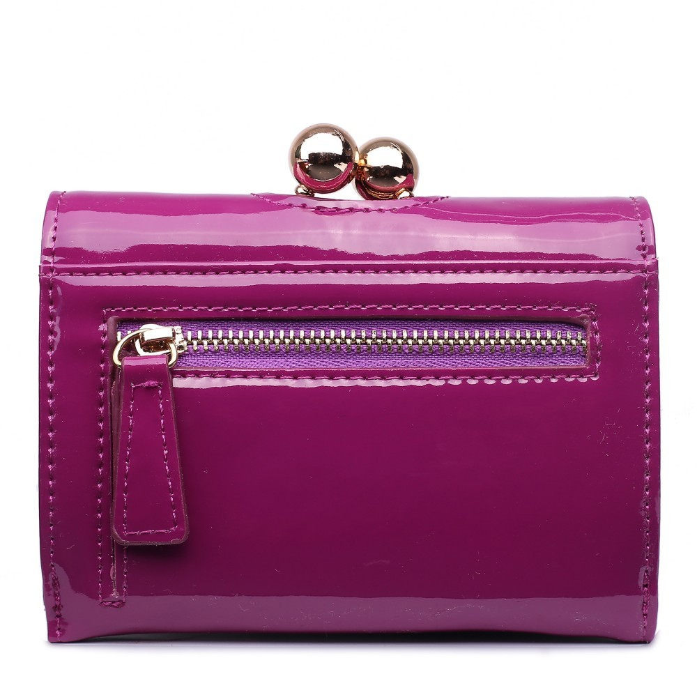 Dámská lakovaná peněženka AUS0210 - purpurová