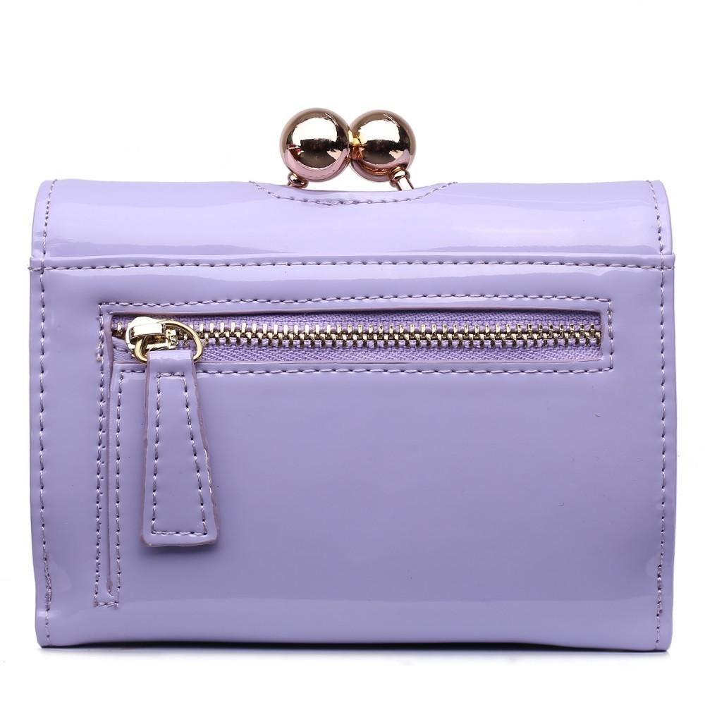 Dámská lakovaná peněženka AUS0210 - světle fialová