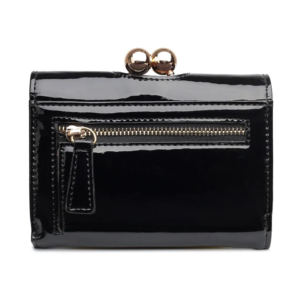 Dámská lakovaná peněženka AUS0210 - černá
