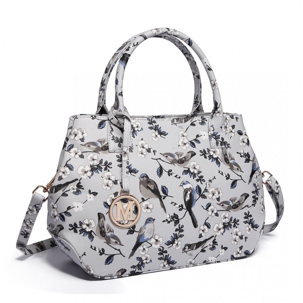 Moderní kabelka do ruky AD7303 - matná šedá