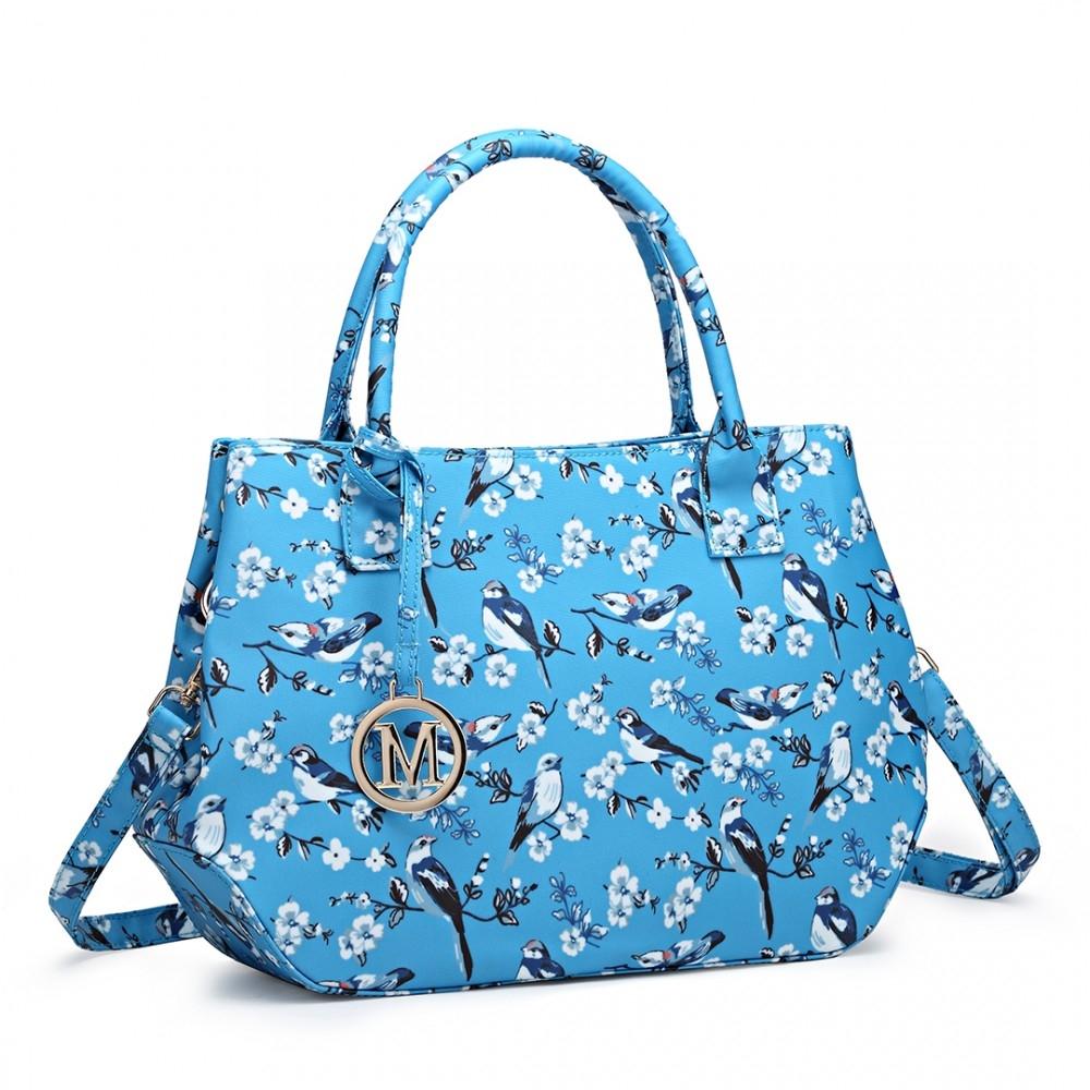 Moderní kabelka do ruky AD7303 - matná světle modrá