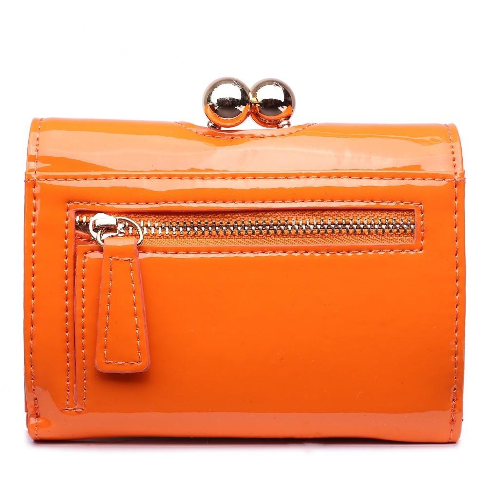 Dámská lakovaná peněženka AUS0210 - oranžová