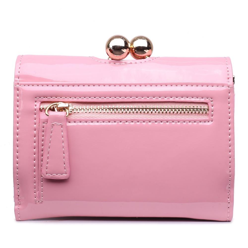 Dámská lakovaná peněženka AUS0210 - růžová