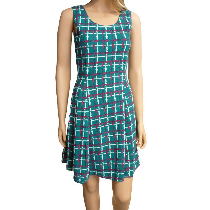 Dámské letní šaty s proužky - zelené - vel. M/L