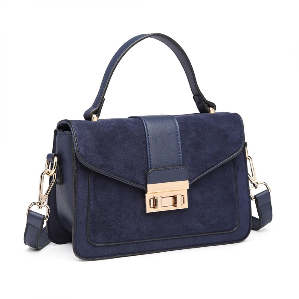 Dámská aktovková kabelka do ruky AJ1537 - modrá