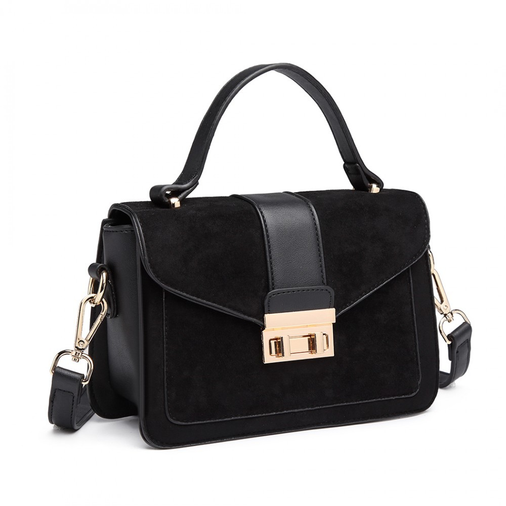 Dámská aktovková kabelka do ruky AJ1537 - černá