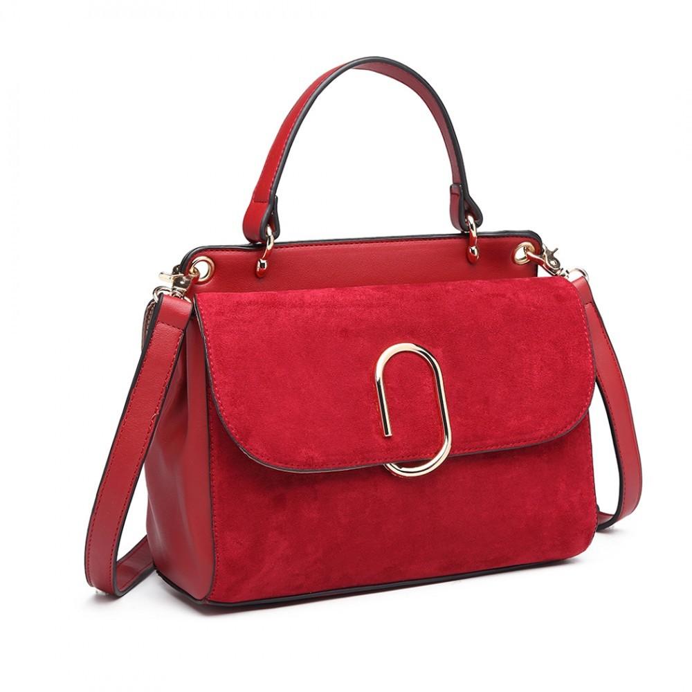 Dámská aktovková kabelka do ruky AJ1564 - červená