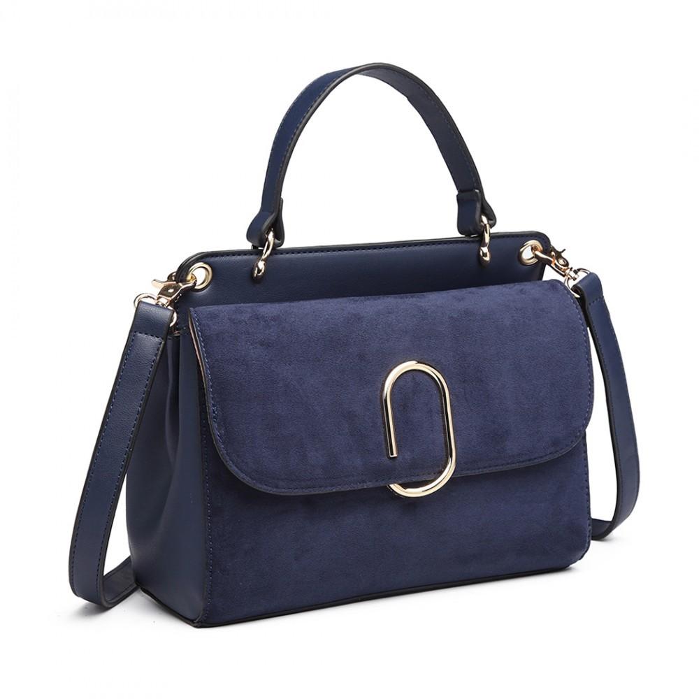 Dámská aktovková kabelka do ruky AJ1564 - modrá
