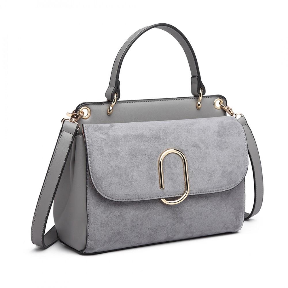 Dámská aktovková kabelka do ruky AJ1564 - šedá