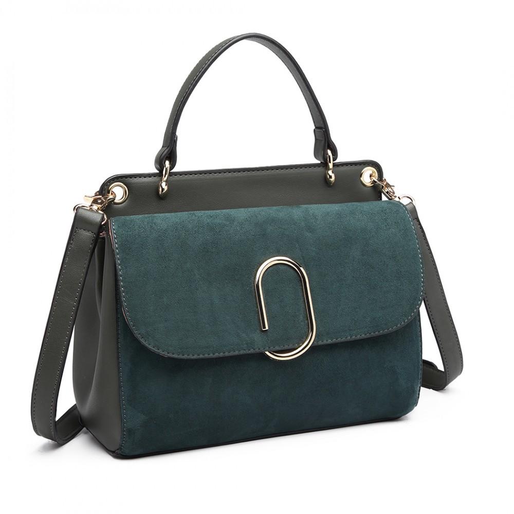 Dámská aktovková kabelka do ruky AJ1564 - zelená
