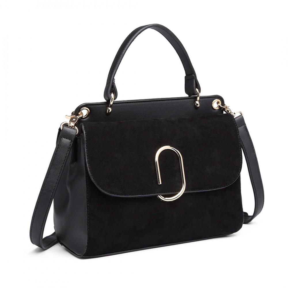 Dámská aktovková kabelka do ruky AJ1564 - černá