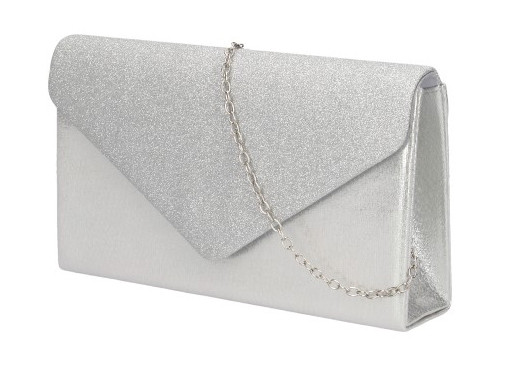 Dámské psaníčko na řetízku PEV3311 - stříbrné