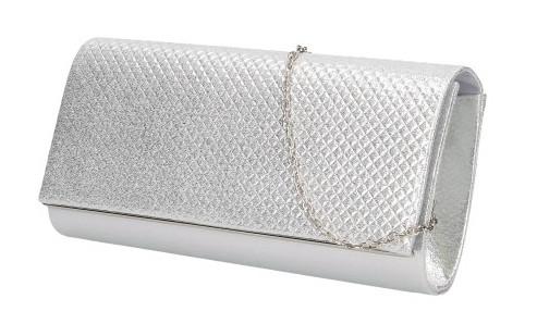 Dámské elegantní psaníčko PEA4173 - stříbrné