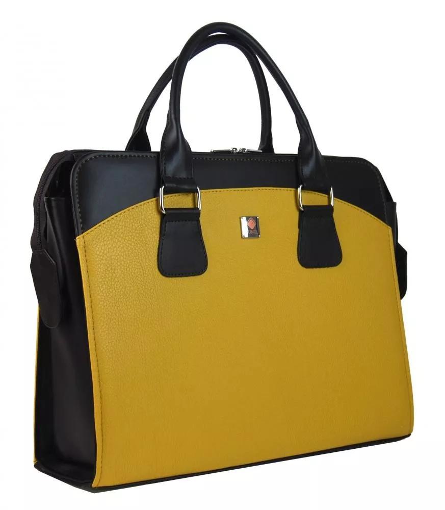 Dámská kabelka/kufřík pro notebook BA3004 - hořčicová žlutá