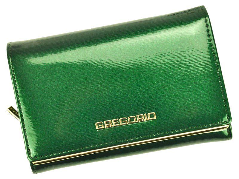 Dámská lakovaná kožená peněženka BAG0174 - zelená