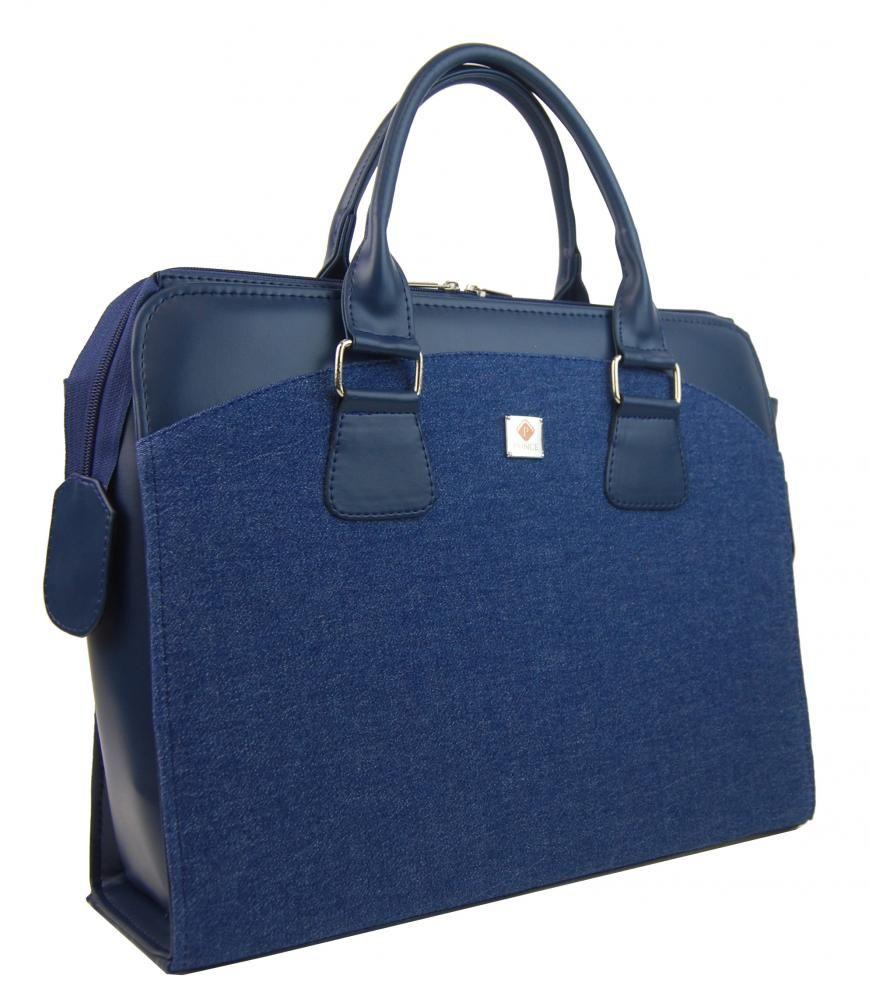 Dámská kabelka/kufřík pro notebook BA3004 - modrá