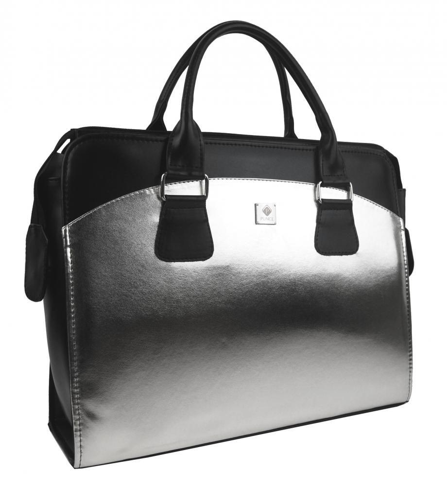 Dámská kabelka/kufřík pro notebook BA3004 - stříbrná