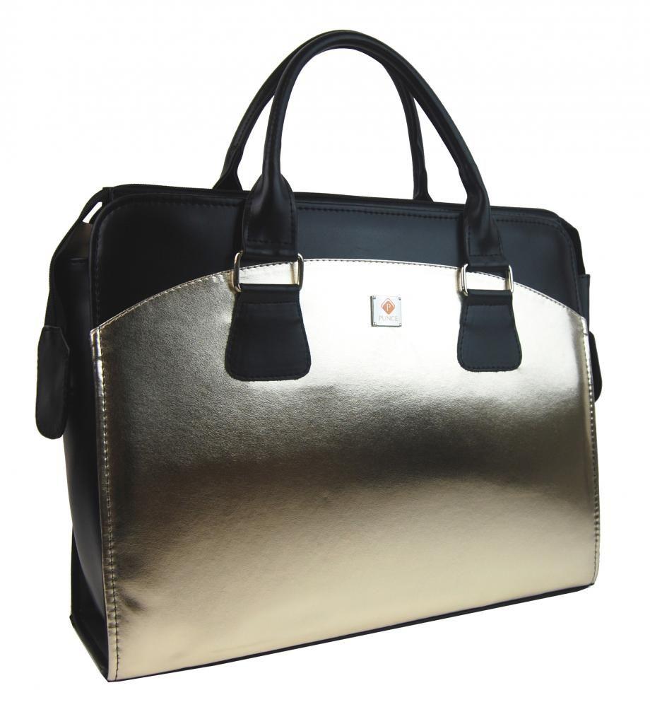 Dámská kabelka/kufřík pro notebook BA3004 - zlatá