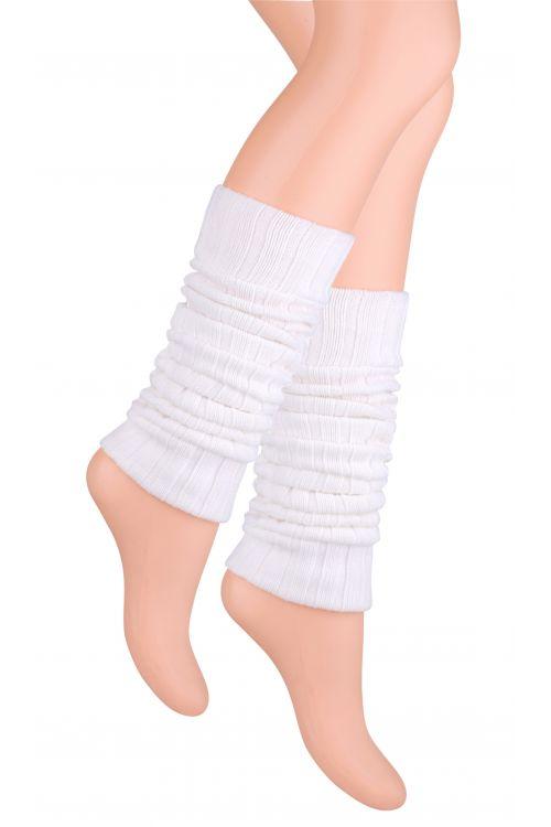 Kotníkové návleky na nohy - bílé - vel. UNI