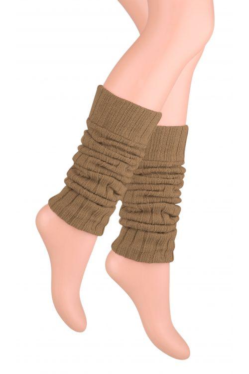 Kotníkové návleky na nohy - hnědé - vel. UNI