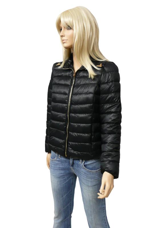 Dámská prošívaná bunda na zip - jarní/podzimní - černá - vel. UNI
