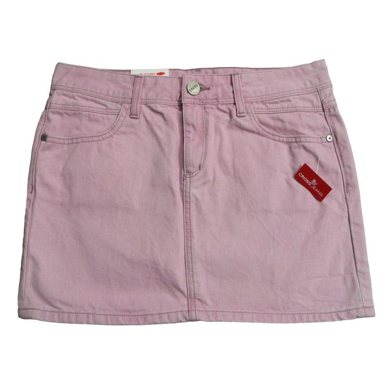 Dámská riflová sukně zn. CROSS - růžová - vel. 30