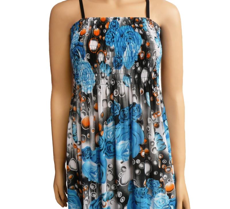 59b6ffbee0d7 Dámské dlouhé letní šaty k moři - tyrkysové - vel. UNI