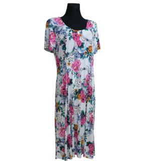 cedab938c9d Květované dámské letní šaty - vel.