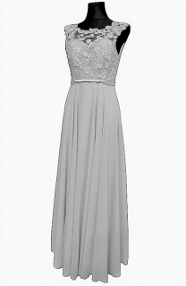6bf91cd51e6 Dámské dlouhé společenské šaty - šedé - vel.