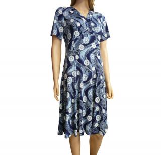 Dámské letní šaty STAR-MODA - modré - vel. 827cb3dbcd